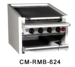 """Magikitch'n CM-RMB-636 36"""" Radiant Charbroiler w/ Round Rod Top Grate, LP"""