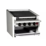 "Magikitch'n CM-SMB-636 36"" Counter Top Coal Charbroiler w/ Ceramic Briquettes & No Legs, NG"