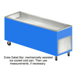 "Duke AHC-8M 217101 116"" Salad Bar w/ 5"" Deep Ice Pan & Removable Grill, Semi-Gloss Black"