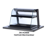 "Duke DK-HCM36F 36"" Full-Service Countertop Heated Display Case w/ Curved Glass - (2) Levels, 115v"