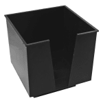 Bar Maid CR-1273 1 Compartment Napkin Holder - Polystyrene, Black