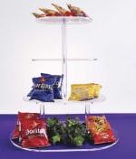 "Jule-art TOR25 Oval Cake Style Riser w/ 4-Platforms & 8"" Shelf Spacing"