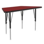 "Correll A2448-TRP 35 Activity Table w/ 1.25"" High Pressure Top, 48""W x 24""D, Red"
