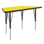 "Correll A2448-TRP 38 Activity Table w/ 1.25"" High Pressure Top, 24 x 24 x 48"", Yellow"