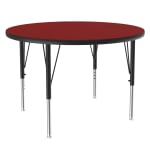 """Correll A36-RND 35 36"""" Round Table w/ 1.25"""" High Pressure Top, Red"""