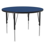 """Correll A36-RND 37 36"""" Round Table w/ 1.25"""" High Pressure Top, Blue"""