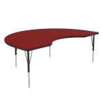 "Correll A4872-KID 35 Activity Table w/ 1.25"" High Pressure Top, 48 x 72"", Red"