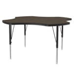 "Correll A48-CLO 01 Activity Table w/ 1.25"" High Pressure Top, 48"" Clover Shape, Walnut"