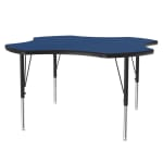 "Correll A48-CLO 37 Activity Table w/ 1.25"" High Pressure Top, 48""W x 48""D, Blue"