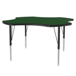"Correll A48-CLO 39 Activity Table w/ 1.25"" High Pressure Top, 48""W x 48""D, Green"