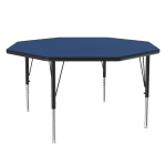 "Correll A48-OCT 37 48"" Octagonal Table w/ 1.25"" High Pressure Top, Blue"