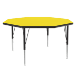 "Correll A48-OCT 38 48"" Octagonal Table w/ 1.25"" High Pressure Top, Yellow"