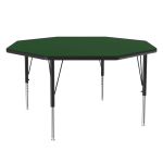 "Correll A48-OCT 39 48"" Octagonal Table w/ 1.25"" High Pressure Top, Green"