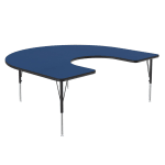 """Correll A6066-HOR 37 Activity Table w/ 1.25"""" High Pressure Top, 66""""W x 60""""D, Blue"""