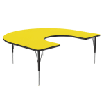 "Correll A6066-HOR 38 Activity Table w/ 1.25"" High Pressure Top, 60 x 66"", Yellow"
