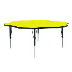 "Correll A60-FLR 38 Activity Table w/ 1.25"" High Pressure Top, 48"" Flower Shape, Yellow"
