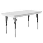 """Correll AR2448-REC 15 Activity Table w/ Plastic Top, 48""""W x 24""""D, Gray Granite"""