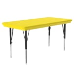 "Correll AR2448-REC 28 Activity Table w/ Plastic Top, 48""W x 24""D, Yellow"