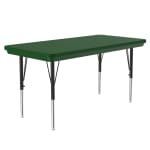 """Correll AR2448-REC 29 Activity Table w/ Plastic Top, 48""""W x 24""""D, Green"""