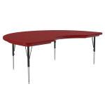 "Correll AR4872-KID 25 Activity Table w/ Plastic Top, 72""W x 48""D, Red"