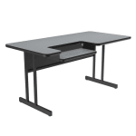 "Correll BL3048 15 Bi-Level Work Station w/ 1.25"" Top, 30 x 48"", Gray Granite/Black"