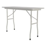 "Correll CF1848M Melamine Folding Table w/ 5/8"" High Density Top, 18 x 48"", Gray Granite"
