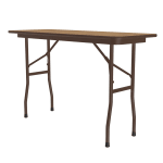 "Correll CF1848PX Folding Table w/ .75"" High-Pressure Top, 18x48"", Oak"