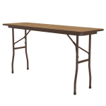 "Correll CF1860PX Folding Table w/ .75"" High-Pressure Top, 18x60"", Oak"