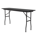"Correll CF1860PX Folding Table w/ .75"" High-Pressure Top, 18x60"", Black Granite"
