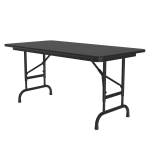 "Correll CFA2448PX 07 Folding Table w/ .75"" Top, Adjustable Height, 24 x 48"", Black Granite"