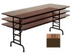 "Correll CFA3060P 06 Folding Table w/ 5/8"" High-Pressure Top, Adjustable Height, 30 x 60"", Oak"