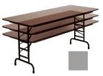 "Correll CFA3060P 13 Folding Table w/ 5/8"" Top, Adjustable Height, 30 x 60"", Dove Gray"