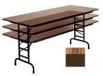 "Correll CFA3096P 06 Folding Table w/ 5/8"" High-Pressure Top, Adjustable Height, 30 x 96"", Oak"