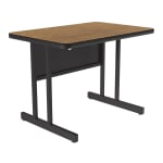 "Correll CS2436 06 26"" Desk Height Work Station w/ 1.25"" Top, 24 x 36"", Oak/Black"