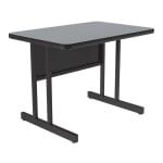 "Correll CS2436 15 26"" Desk Height Work Station, 1.25"" Top, 24 x 36"", Gray Granite/Black"