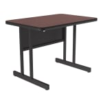 "Correll CS2436 20 26"" Desk Height Work Station w/ 1.25"" Top, 24 x 36"", Mahogany/Black"