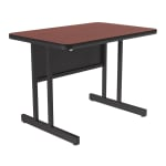 "Correll CS2436 21 26"" Desk Height Work Station w/ 1.25"" Top, 24 x 36"", Cherry/Black"