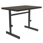 "Correll CSA2436 01 Desk Height Training Table w/ 1.25"" Top, 36""W x 24""L, Walnut"