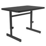 "Correll CSA2436 07 Desk Height Work Station, Adjust to 29"", 24 x 36"", Black Granite/Black"