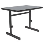 "Correll CSA2436 15 Desk Height Work Station, Adjust to 29"", 24 x 36"", Gray Granite/Black"