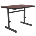 "Correll CSA2436 20 Desk Height Work Station, Adjust to 29"", 24 x 36"", Mahogany/Black"