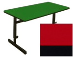 "Correll CSA2436 25 Desk Height Work Station, 1.25"" Top, Adjust to 29"", 24 x 36"", Red/Black"