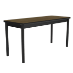 """Correll LR2472 16 Economical Library Table Wear Resistant Surface T Mold Edge 24x72"""" Fusion Maple"""