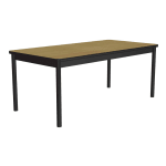 """Correll LR3672 16 Economical Library Table Wear Resistant Surface T Mold Edge 36x72"""" Fusion Maple"""