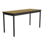 """Correll LT3048 16 Economical Lab Table w/ Wear Resistant Surface T Mold Edge 30x48"""" Fusion Maple"""