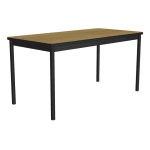 "Correll LT3672 16 Economical Lab Table w/ Wear Resistant Surface T Mold Edge 36x72"" Fusion Maple"