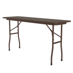 "Correll PC1860P 01 Solid Plywood Core Folding Table w/ Premium Top, 18 x 60"", Walnut"