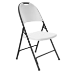 Correll RC350 23 Heavy Duty Folding Chair, Injection Molded, Gray w/ Black Frame