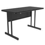 "Correll WS2436 07 29"" Desk Height Work Station w/ 1.25"" Top, 24 x 36"", Black Granite/Black"