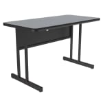 "Correll WS2436 15 29"" Desk Height Work Station, 1.25"" Top, 24 x 36"", Gray Granite/Black"